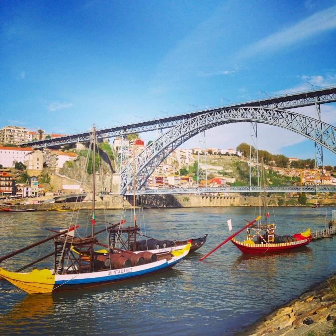 Rio Douro, do lado de Vila Nova de Gaia. (Porto - Portugal). Foto: Amanda Corrêa